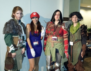 Crystal as Maria (Gender bending Mario), and some fabulous Dragon Age cosplayers!