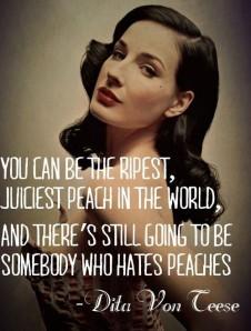Preach on, Dita.
